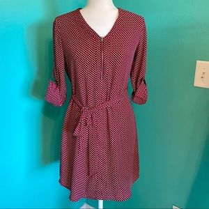 Express Red and White Polka Dot Dress Size XS